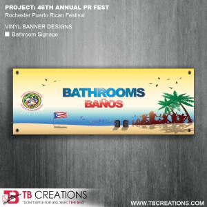 PR Festival Vinyl Banner – Bathroom