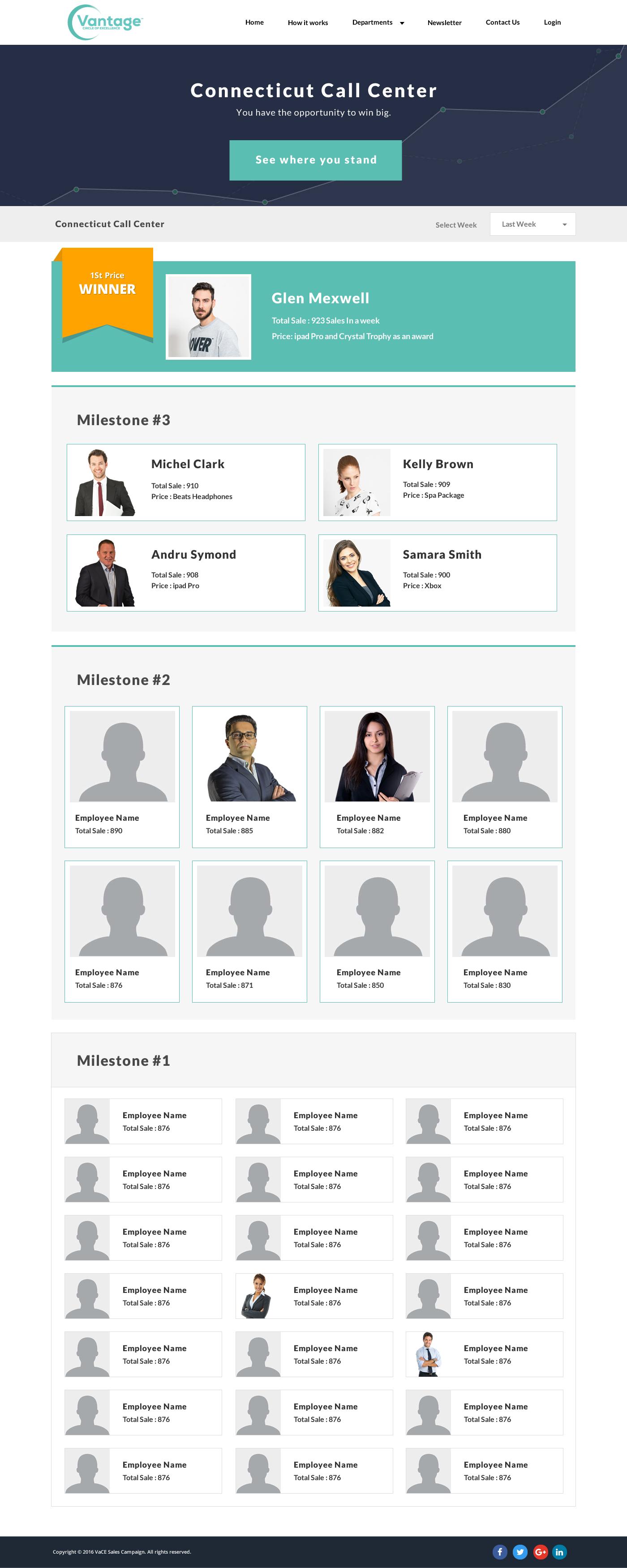 Vace Internal Website Development