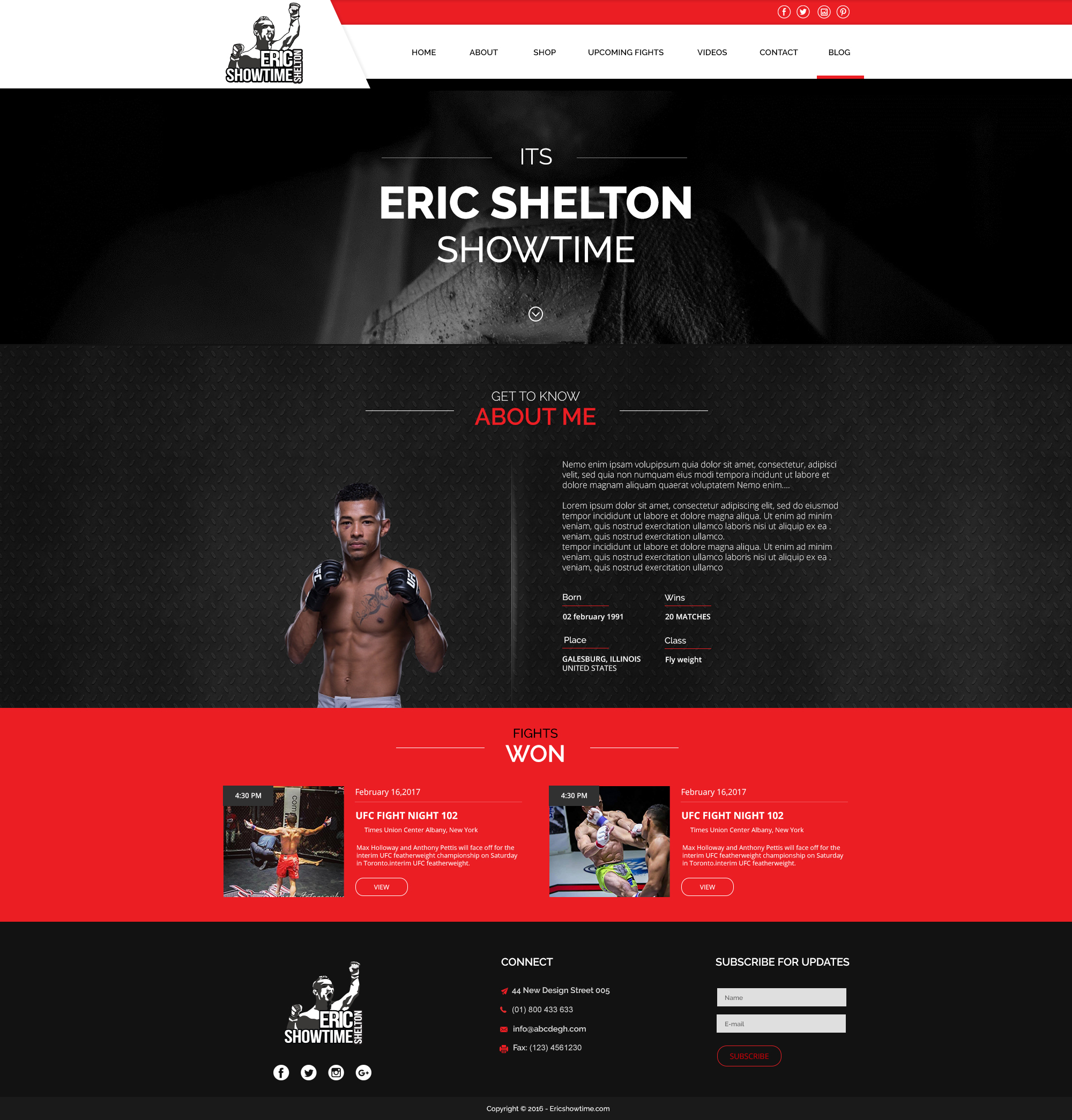 Eric Showtime Shelton Web Mockup
