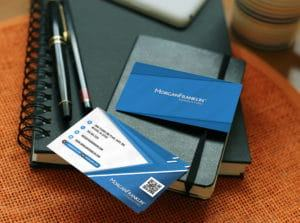 Morgan Franklin Business Card Mockup