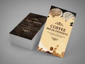 Coffee Break Deserts Business Card Mockup