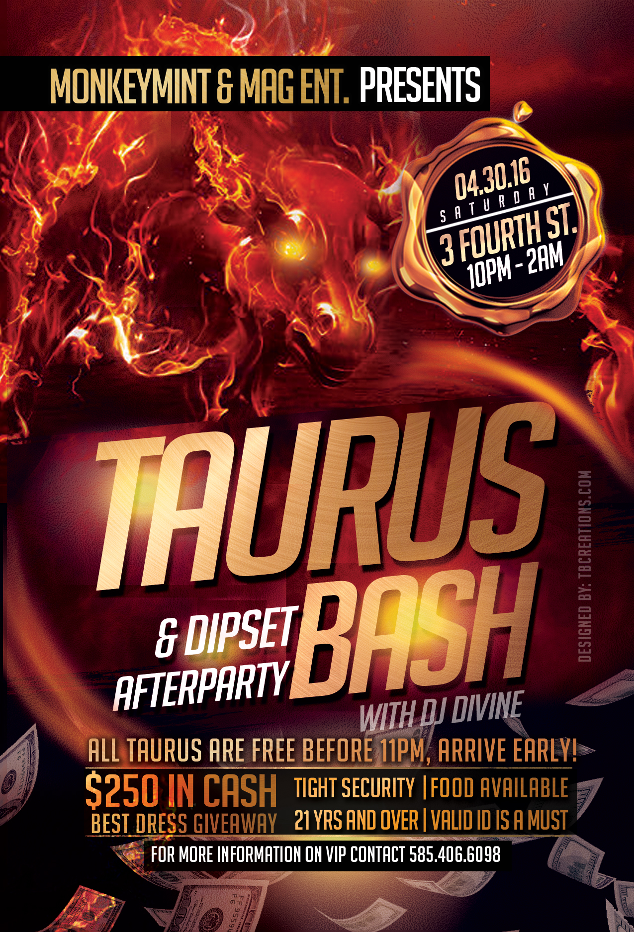 Taurus Bash Flyer