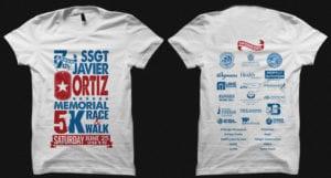 Sg Ortiz 5K Tshirt Design