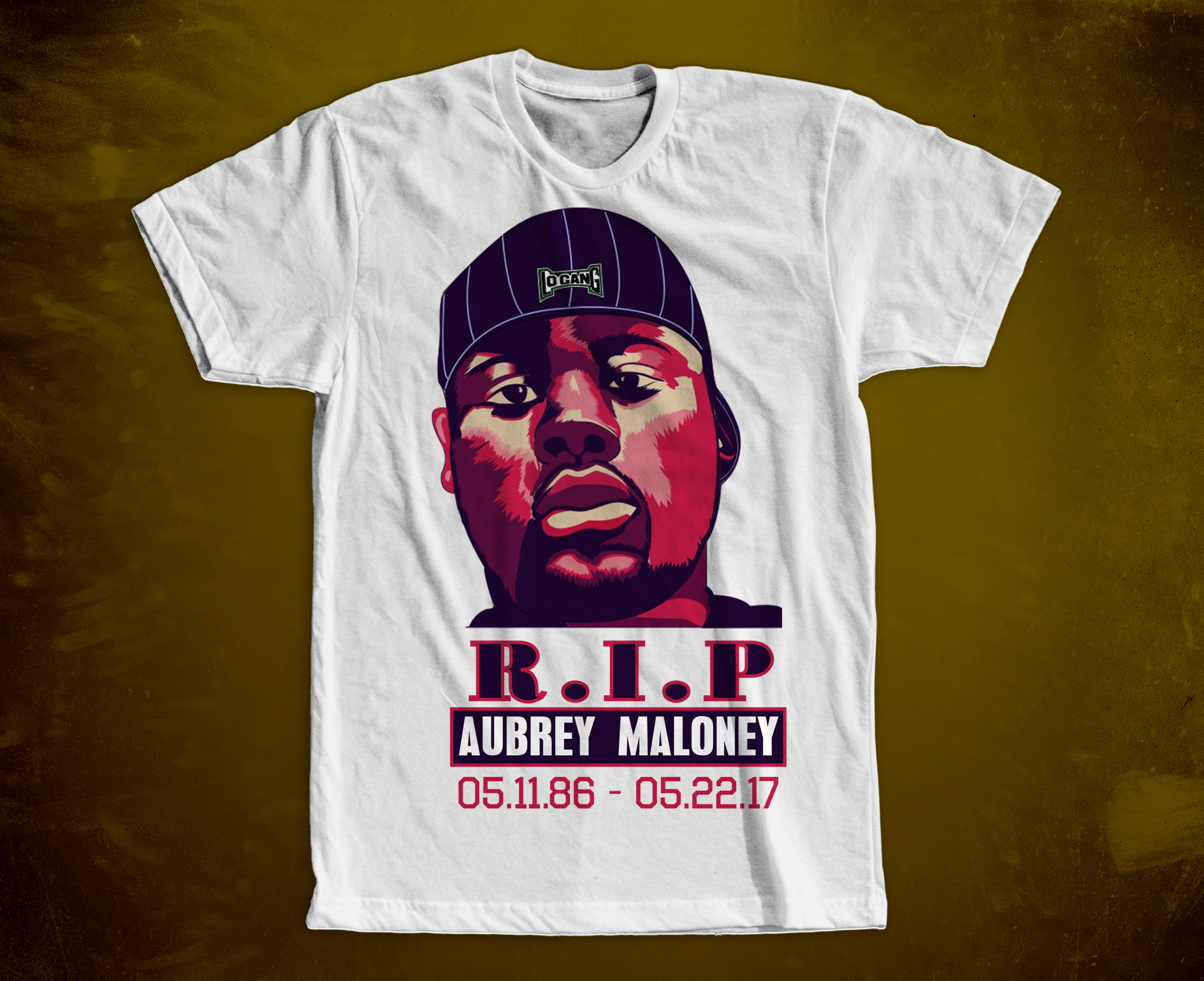 Aubrey Maloney RIP Shirt Design