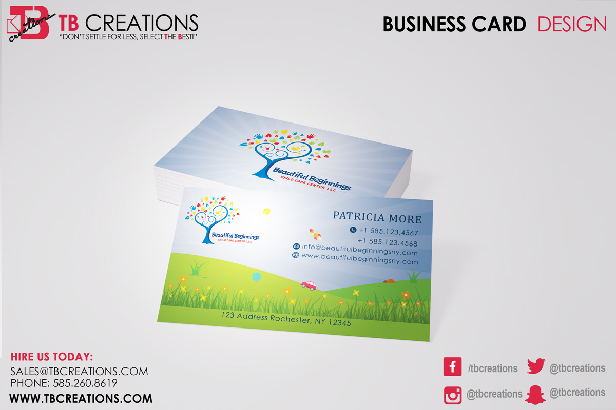 Beautiful beginnings business cards tb creations rochester ny beautiful beginnings business cards reheart Choice Image