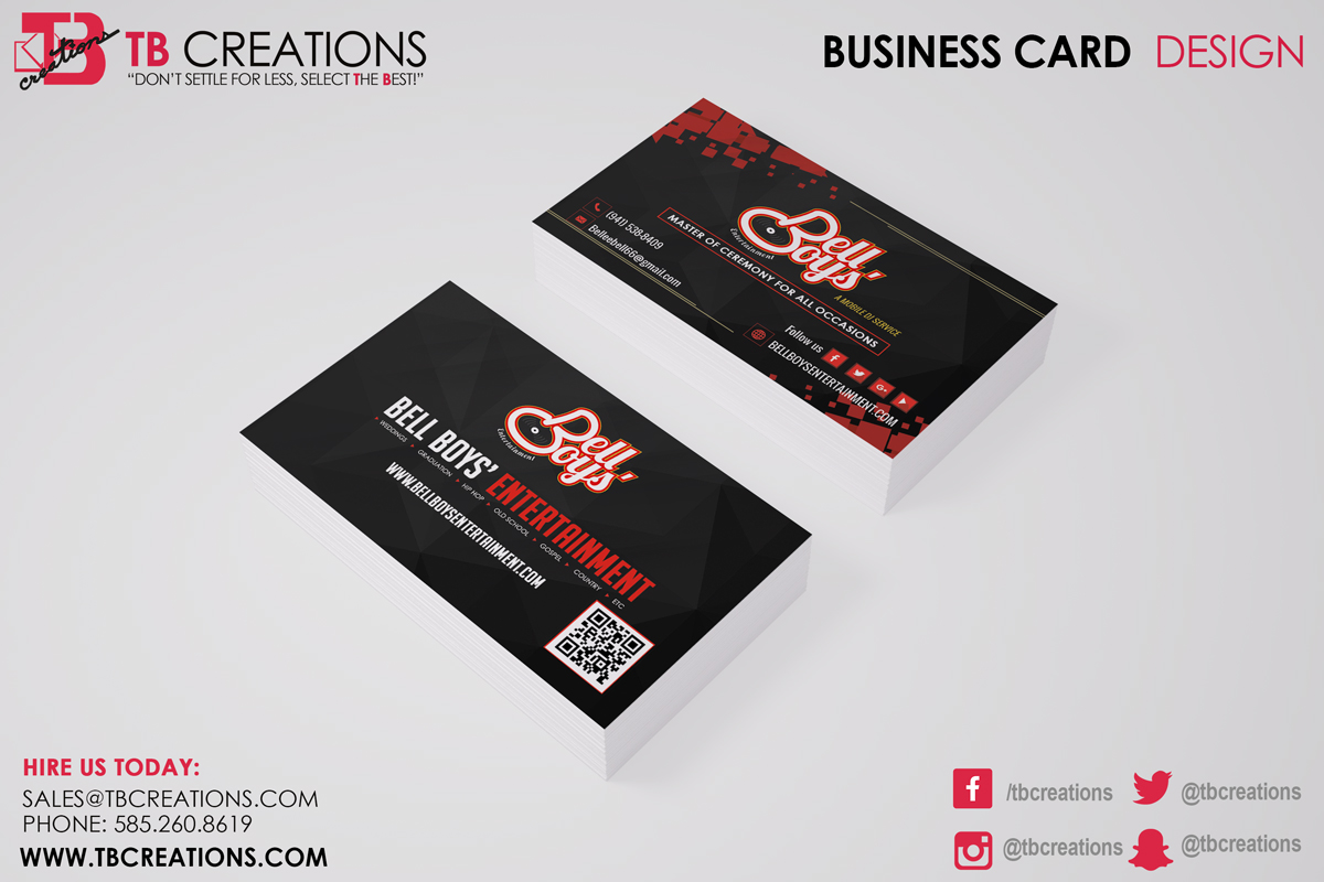 Bell Boy's Business Card
