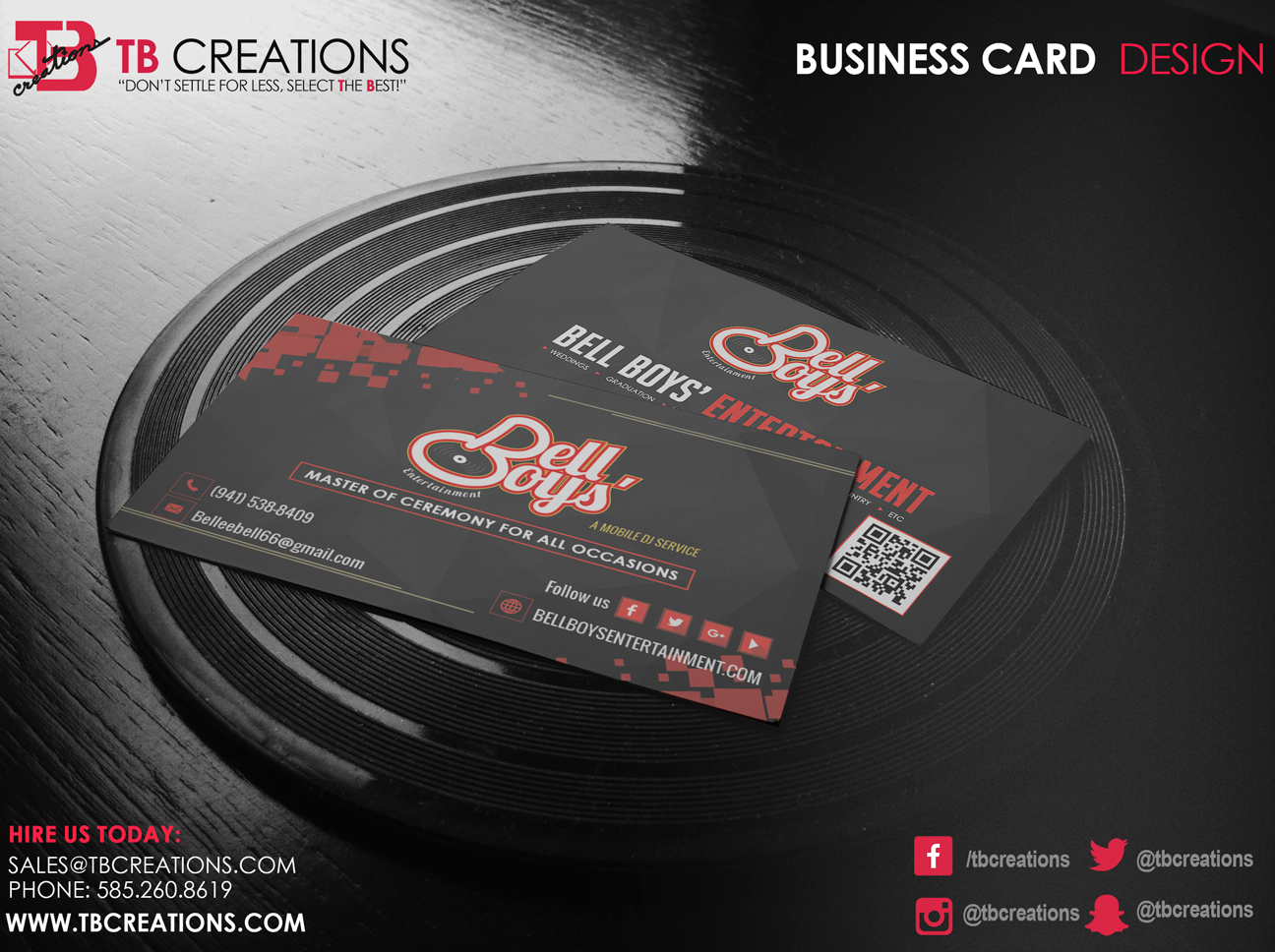 Business cards rochester ny best business 2017 bell boy s business card tb creations rochester ny reheart Choice Image