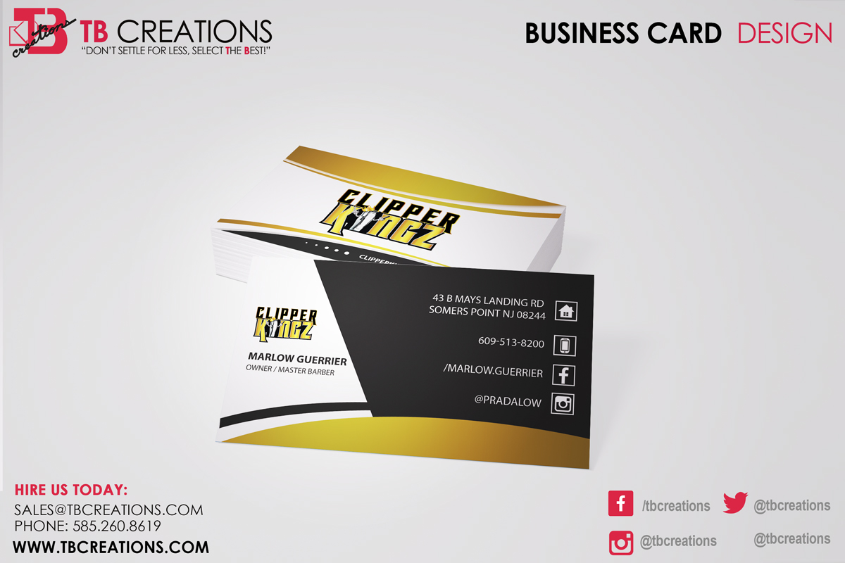 Clipper kingz business cards tb creations rochester ny clipper kingz business cards reheart Choice Image