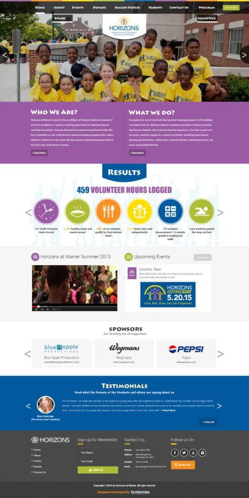 Horizons at Warner Web Development