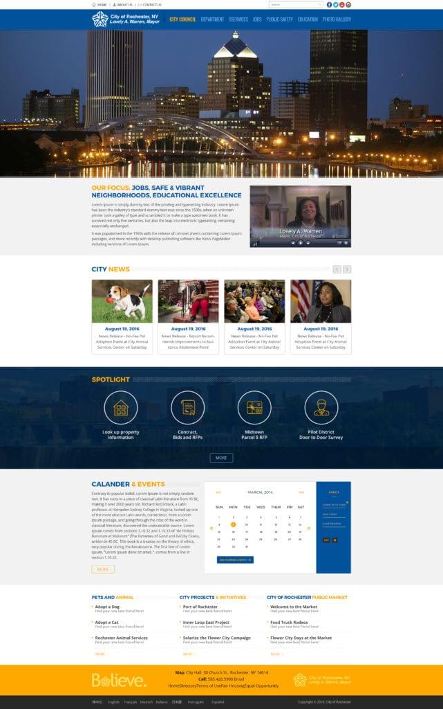 City of Rochester Website Mockup