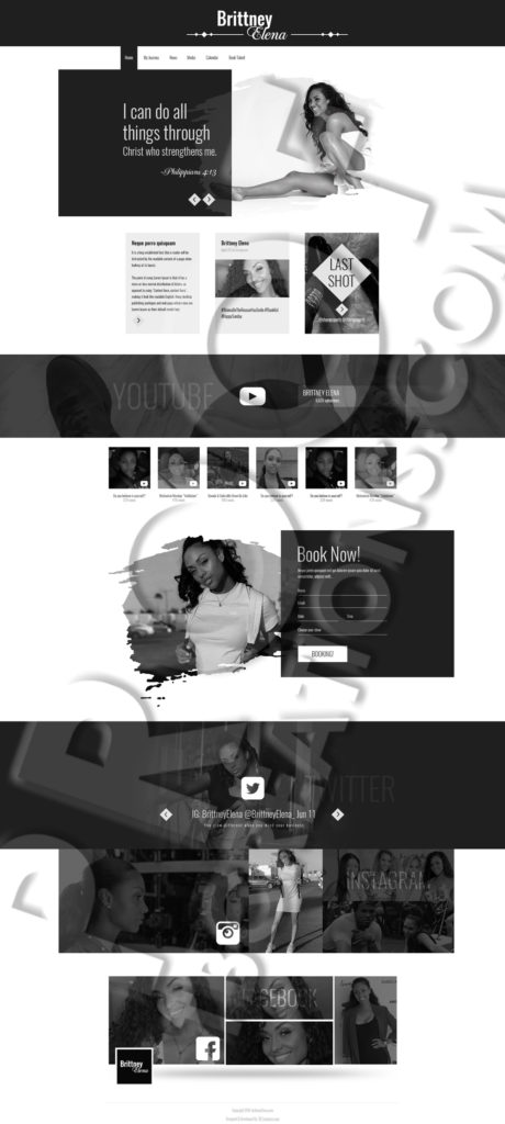 Brittney Elena Website Mockup