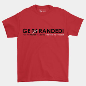 Get Branded Crew Neck Shirt – Red