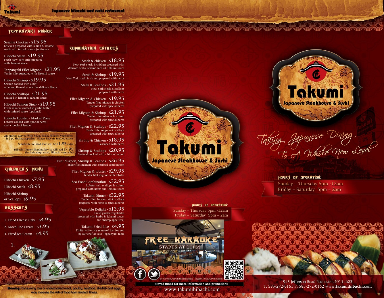 Takumi To-Go Menu