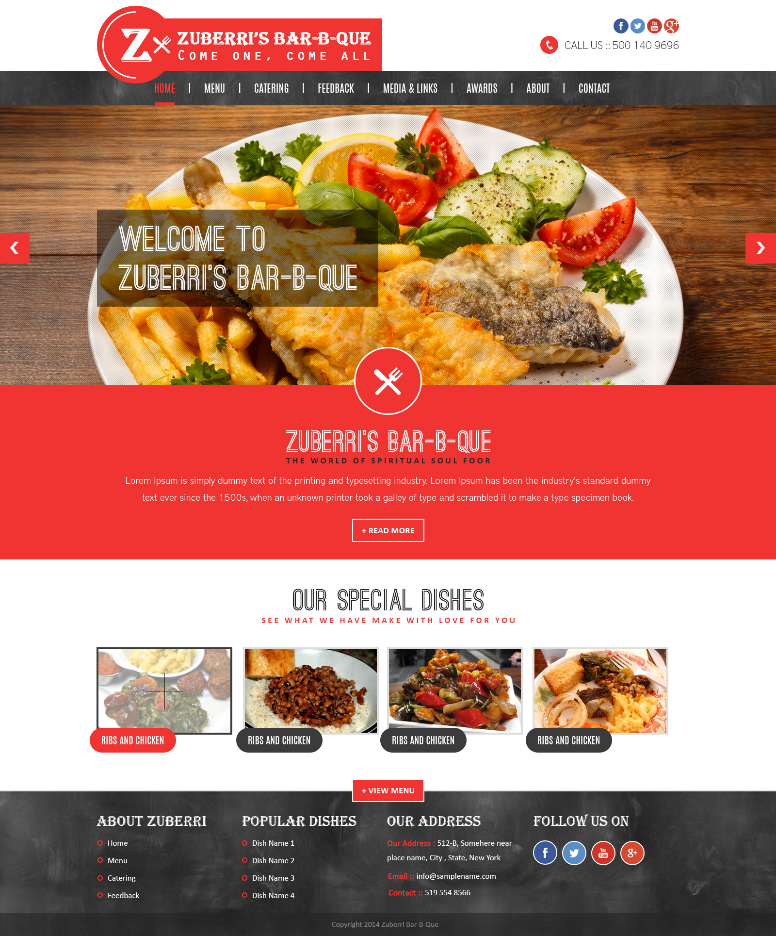 Zuberri Restaurant Website Mockup