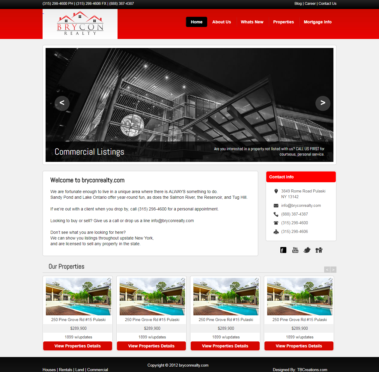 Brycon Realty Website