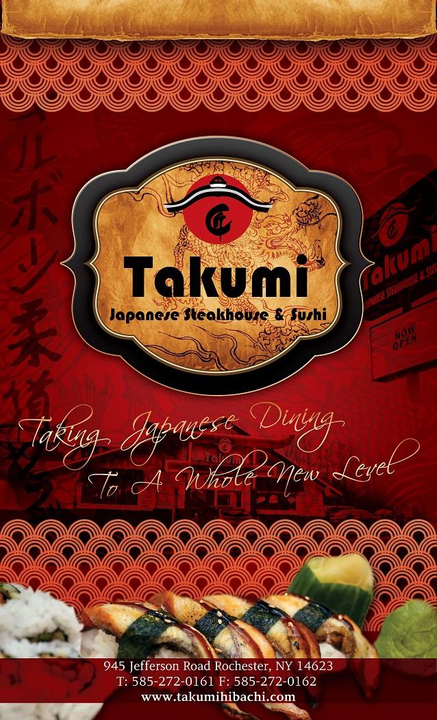 Takumi Hibachi – Menu Design