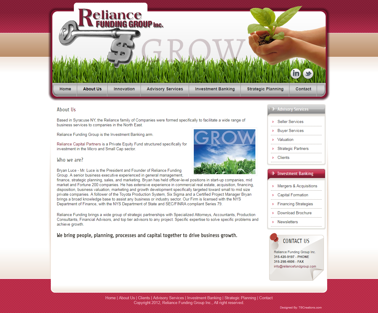 Reliance Fund Group – ReDesign