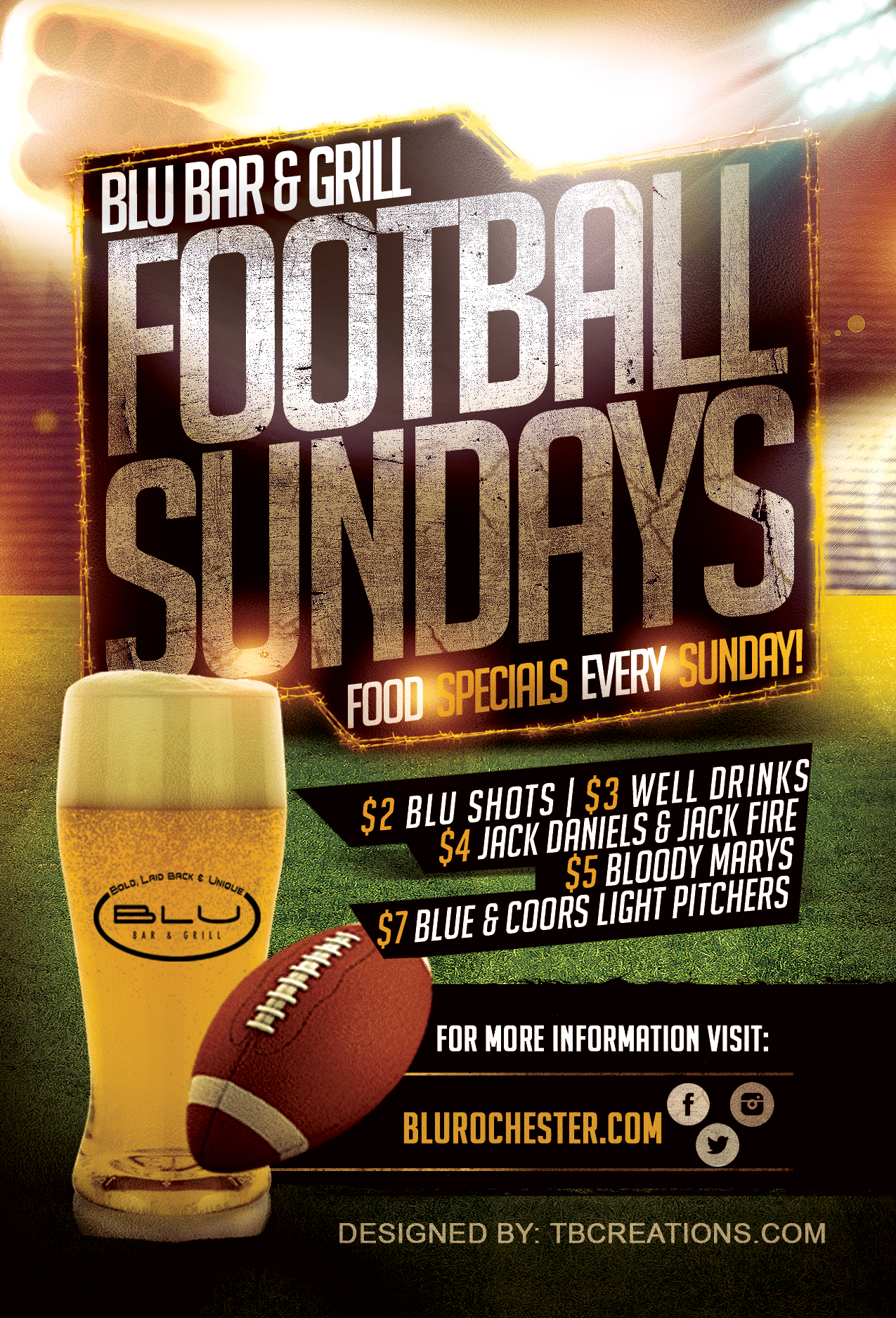Blu Sunday Football Nights