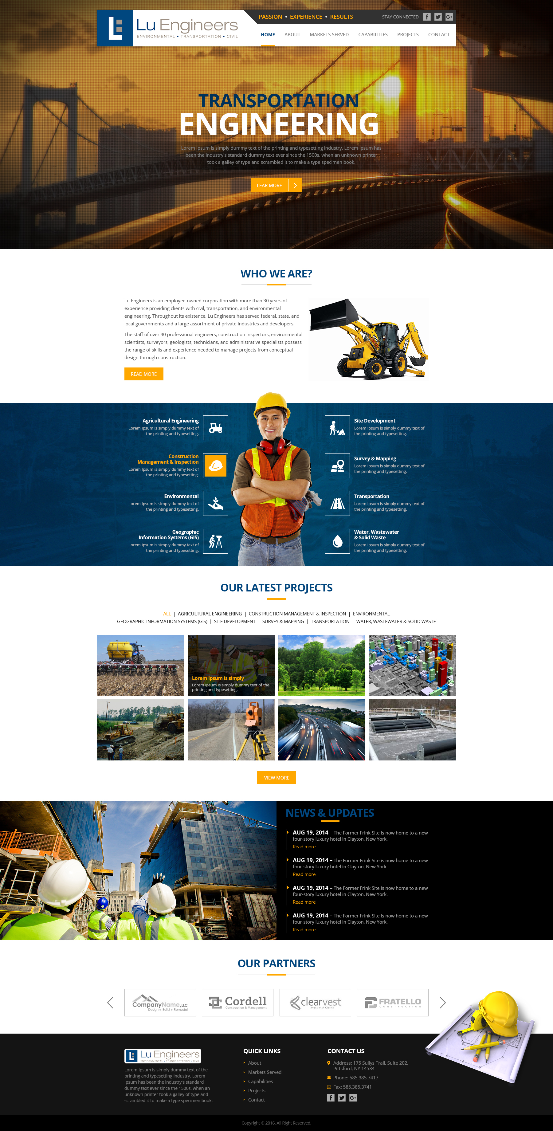 Lu Engineers Web Mockup