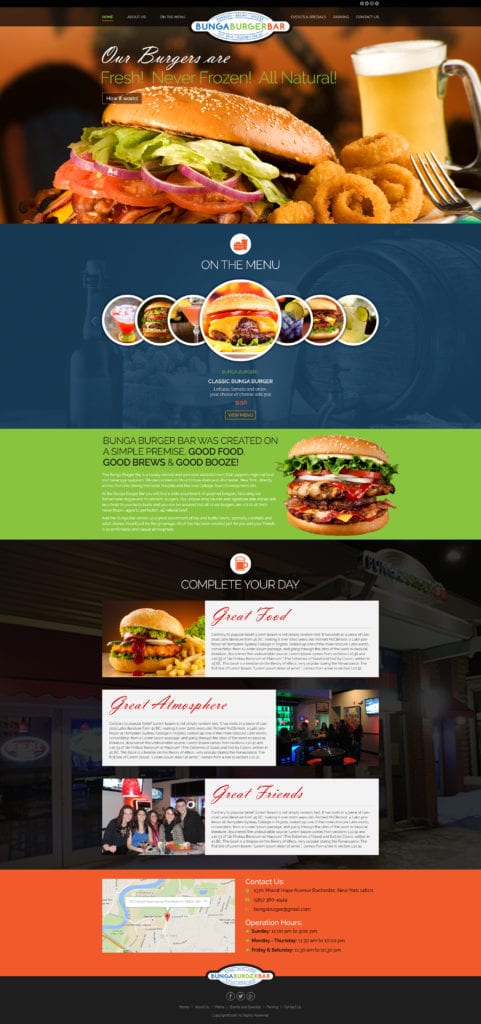 Bunga Burger Web Mockup