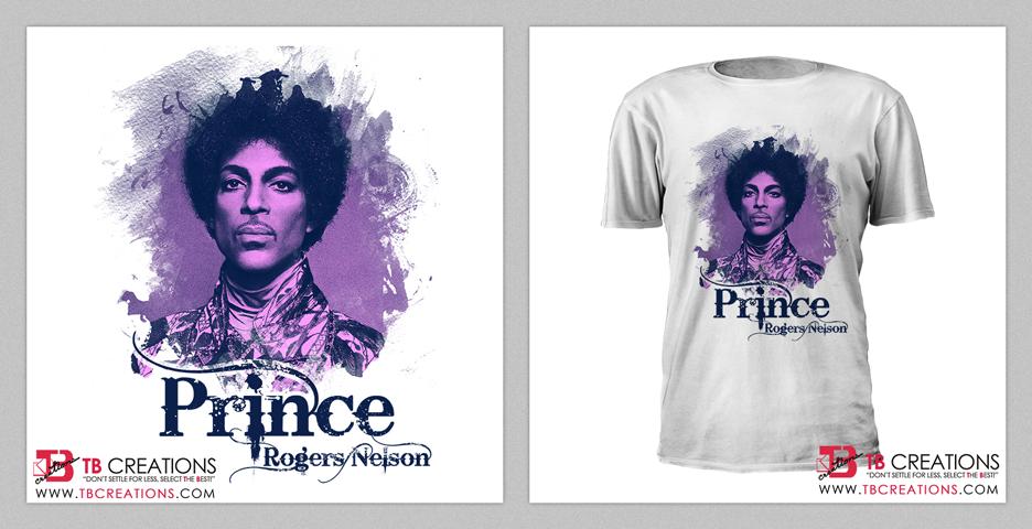 Prince Tribute Tshirt Design