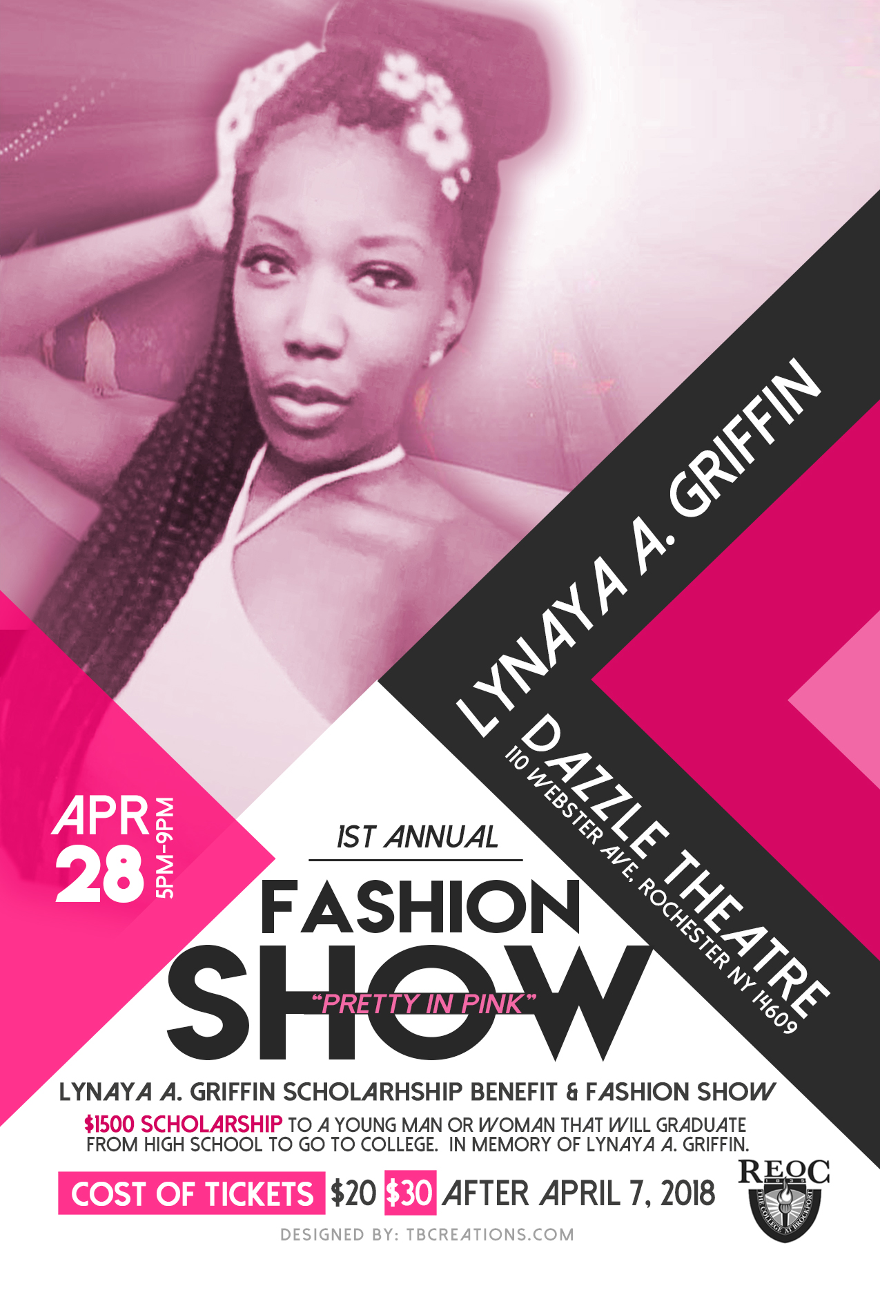Lynaya A. Griffin Fashion Show – Flyer-Ticket