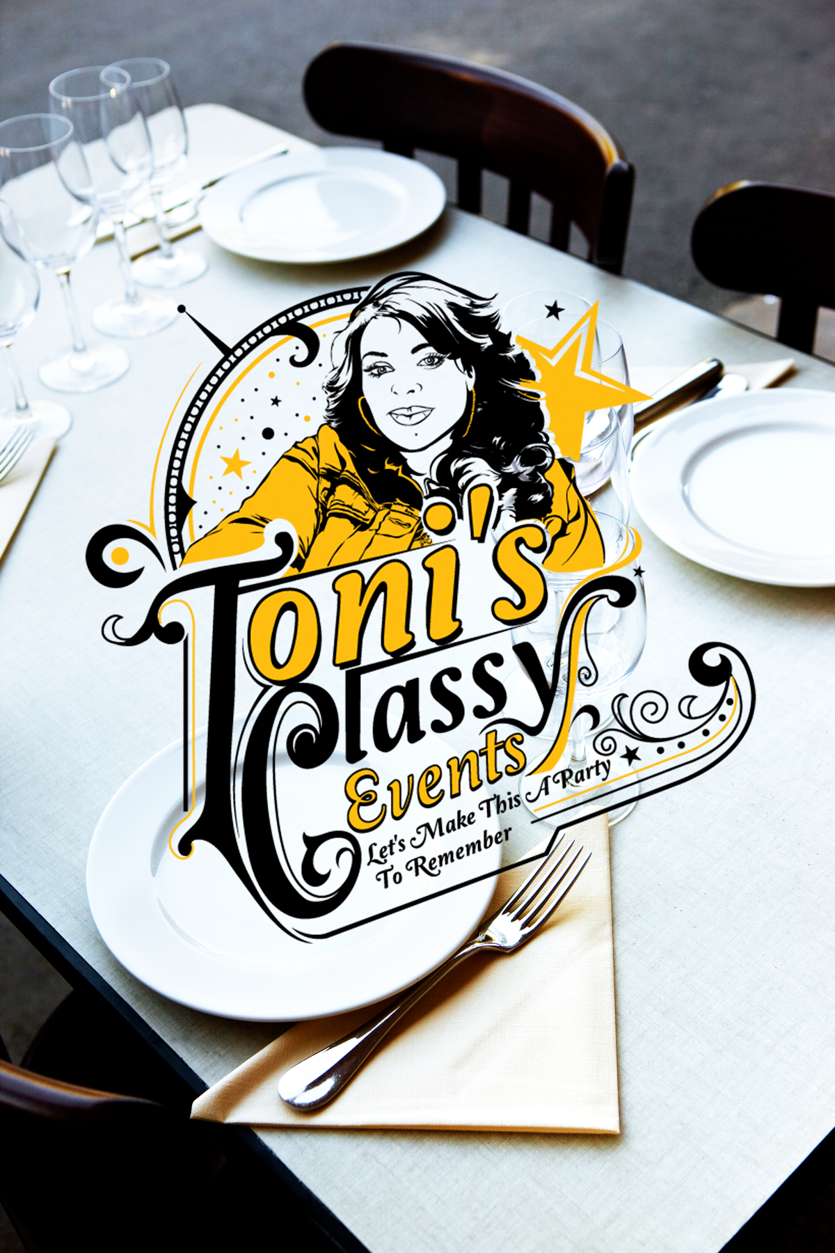 Toni's Classy Events Logo