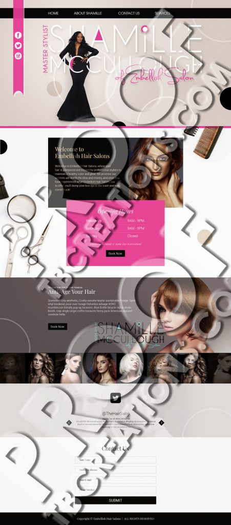 Shamille Web Mockup