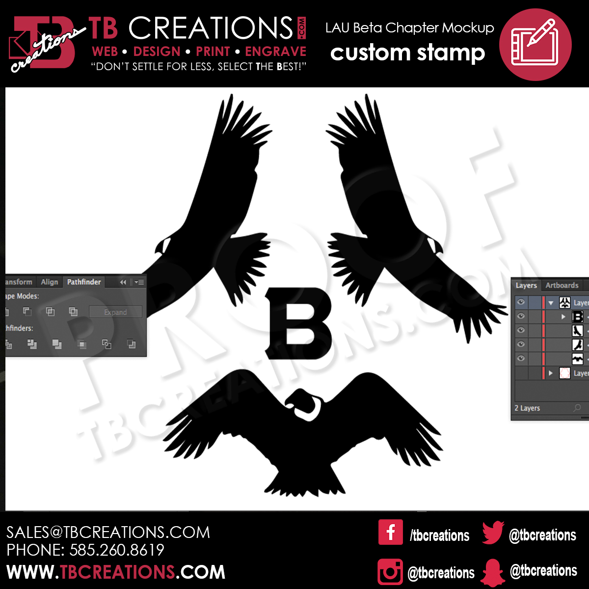LAU Beta Chapter Stamp