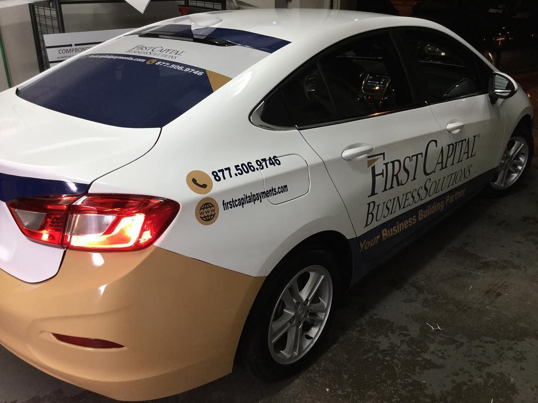 First Capital Sedan Vehicle Wrap