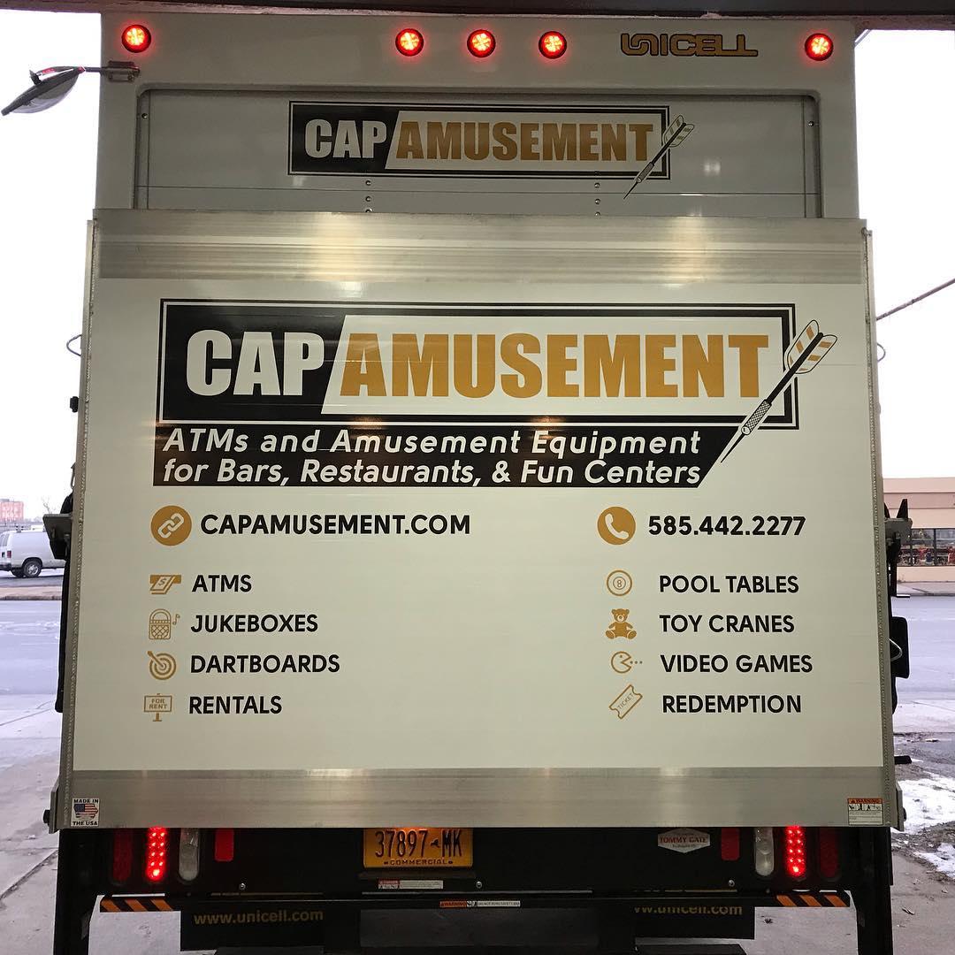 Cap Amusement Box Truck Wrap