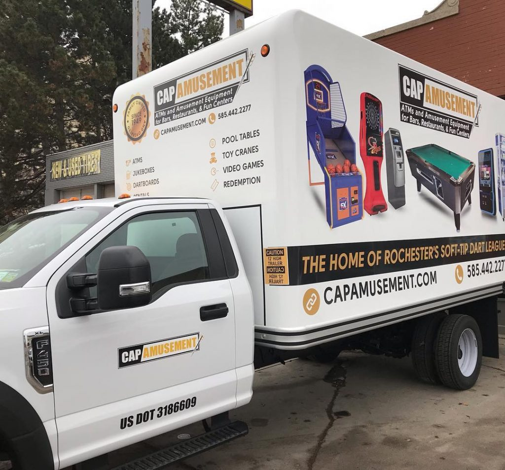 Cap Amusement Box Truck Wrap