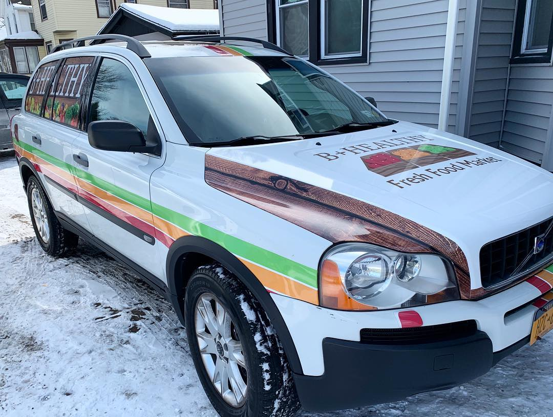 B+ Healthy Vehicle Wrap Installation
