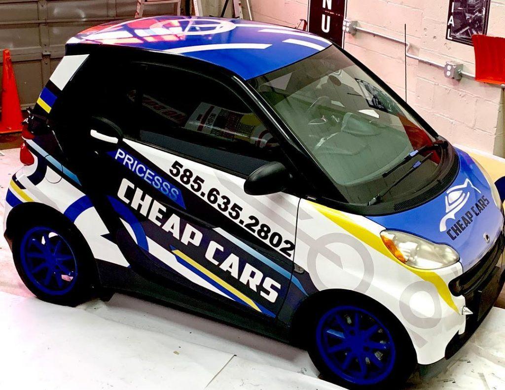 Cheap Cars Vehicle Wrap