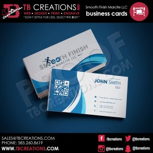 Smooth Finish LLC Business Card Design