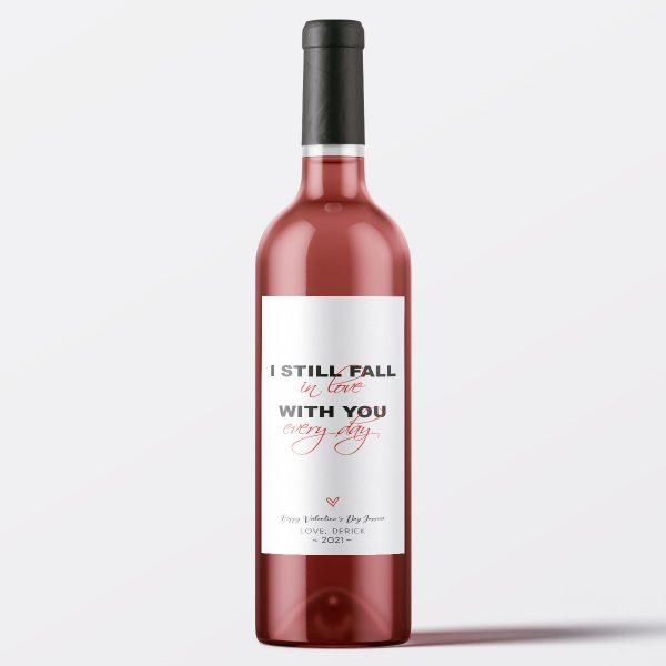 fall in love wine label